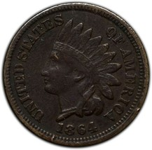 1864CN Indian Head Cent Penny Coin Lot A 289