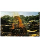 Tennessee Postcard Lynchburg Jack Daniels Distillery Making Charcoal - $3.79