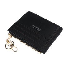 Short Leather ID Credit Card Holder Casual Wallets Coin Purse w/ Keychain - $14.54