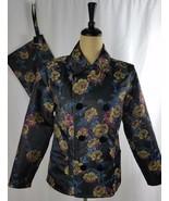 Mycra Pac Jacket Bag Set Black Purple Floral Reversible Small Medium NWT... - $119.78