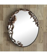 Cast Iron Octopus Oval Wall Mirror~ Beach Nautical Decor,26''H - $140.68