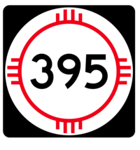 New Mexico State Road 395 Sticker R4179 Highway Sign Road Sign Decal - $1.45+