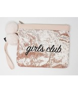 No Boundaries Large Pink Velvety Girls Club Wristlet Purse - $18.04