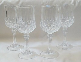 Crystal d'Arques Longchamp Pattern Wine Glass Set of 4 - $19.75