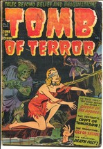 Tomb of Terror #3 1952-Earth destroyed-Atomic disaster-torture-pre-code-... - $121.68