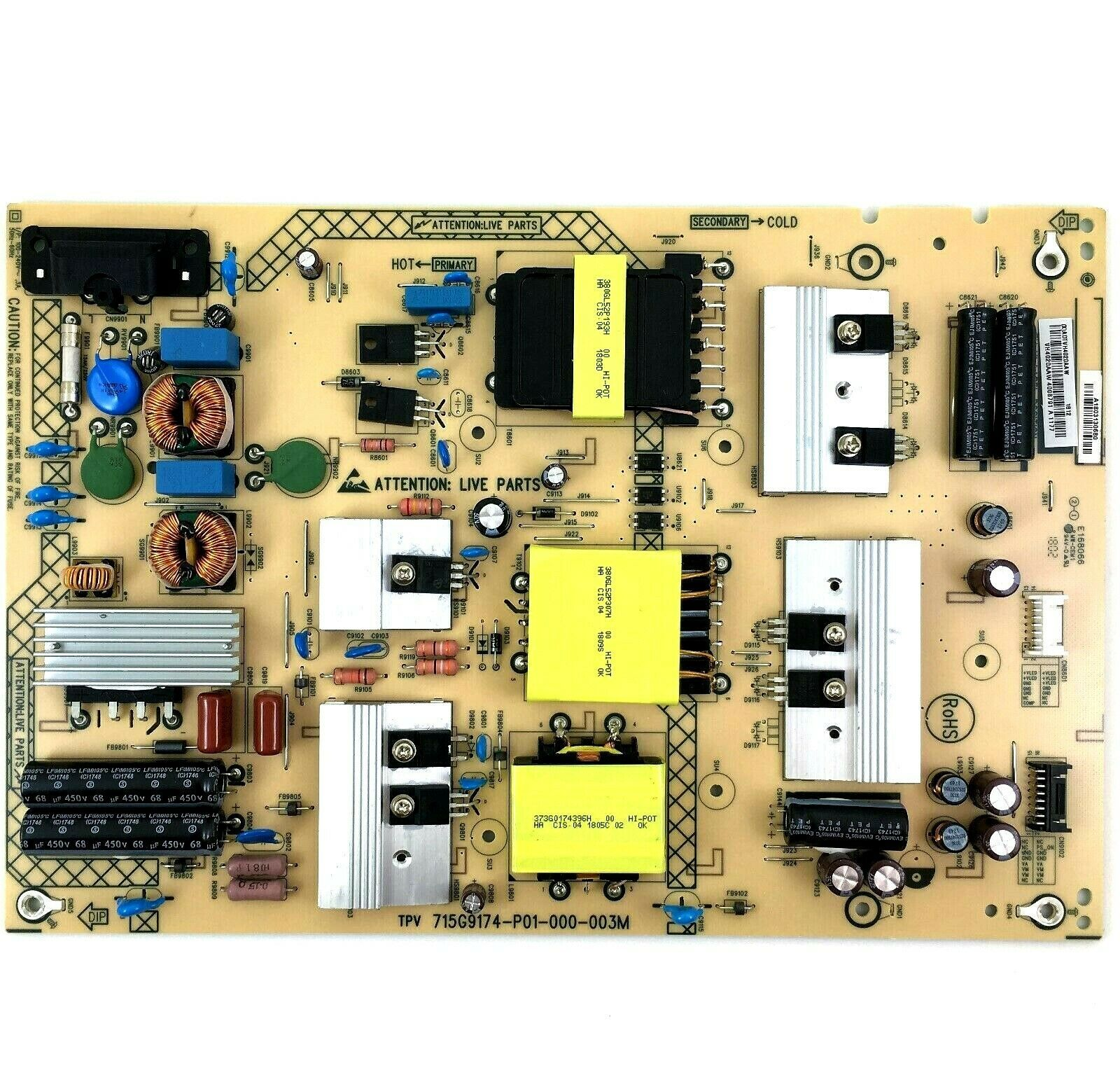 Primary image for VIZIO ADTVH4020AAW 715G9174-P01-000-003M Power Supply Board for D65-F1