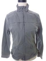 Lucy Jacket Lightweight Zippered Jacket Gray Size Small - $27.00