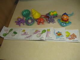 Kinder - K00 095-098 Sea animals - complete set + 4 papers - surprise eggs - $4.50