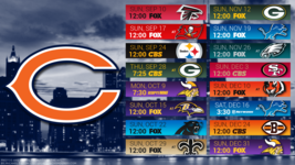 Chicago Bears 2017 schedule Poster 24 X 36 inch  - $18.99