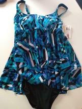 Profile Multi Color/ Blue One Piece Size 10 image 1