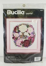 Bucilla Crewel Embroidery Kit #40871 The Garden Wreath II Complete New Sealed - $26.93