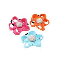Set of 12 Hair Accessories Ponytail Holders Flora Pattern Hair Elastics