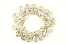 Vintage Swirl Scroll Design Chain Bracelet 925 Sterling BR 3204 - $71.49