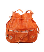 Moroccan Bag, Handmade Crossbody Purse, Medium Bag, Leather Bag, Gifts f... - $54.95