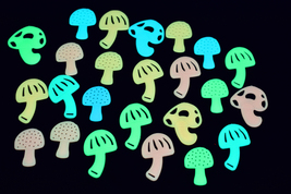 24 piece glow in the dark mushrooms1 thumb200