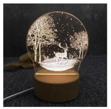 3D LED Lamp Creative Wood grain Night Lights Novelty Illusion Night Illusion 5 - $12.40