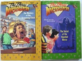 Three Investigators 2 Lot Bullseye paperbacks Screaming Clock Haunted Mi... - $10.00