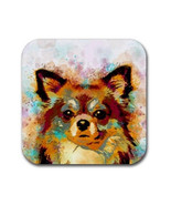 Rubber coasters, set of 4, Dog coasters, Dog 141 Chihuahua digital art L... - $11.99