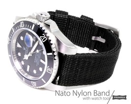 20mm 22mm 24mm Triple layer 2-piece military nylon band strap - Stealth ... - $42.99