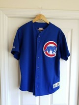 Vintage Rare Moises Alou Chicago Cubs Majestic Blue throwback Jersey Size XL - $59.39