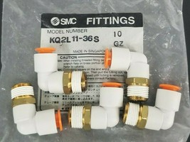 BAG OF 5 NEW SMC KQ2L11-36S MALE ELBOW FITTINGS KQ2L1136S