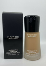 NIB MAC Mineralize Moisture Foundation SPF 15 30ml NC40 NC 40 - $39.99