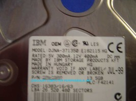 "13GB 3.5"" IDE Drive IBM DJNA-371350 Tested Good Free USA Ship Our Drives Work"