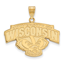 14ky LogoArt University of Wisconsin Large Pendant - $635.00