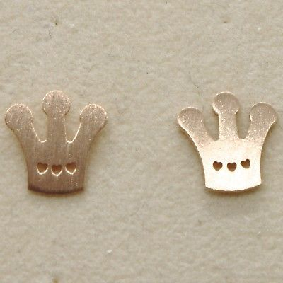 """925 STERLING ROSE SILVER """"LE FAVOLE"""" CROWN EARRINGS, TALE SATIN, MADE IN ITALY"""