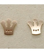 """925 STERLING ROSE SILVER """"LE FAVOLE"""" CROWN EARRINGS, TALE SATIN, MADE IN ITALY  - $27.55"""