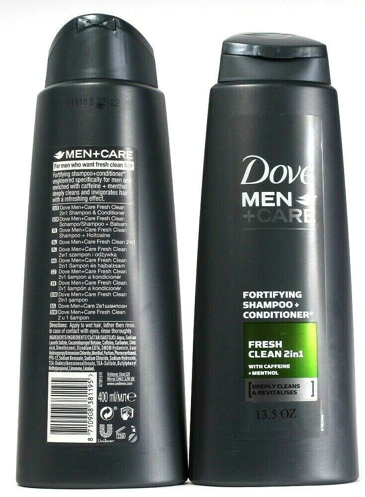 2 Dove Men + Care 2in1 Formula Fresh Clean With Caffeine Menthol Invigorate 13oz - $21.99