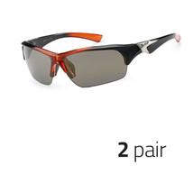 2 Pc X Loop Sport Half Frame Sunglasses For Men And Women Wrap Around Orange - $13.99