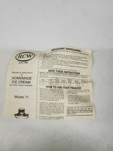 Richmond Cedar Works RCW Model 71 Instructions and Recipes - $4.95