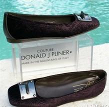 Donald Pliner Couture Vino Metallic Leather Flat Shoe 6 Antique Velvet $... - $146.25