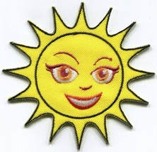 Far out sun retro hippie embroidered applique iron-on patch S-1520 - $2.95