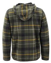 Men's Casual Flannel Zip Up Fleece Lined Plaid Sherpa Hoodie Lightweight Jacket image 12