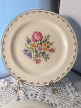 "Homer Laughlin Petit Pointe 10"" Plates Set Of 4 (P1860B) - $13.50"