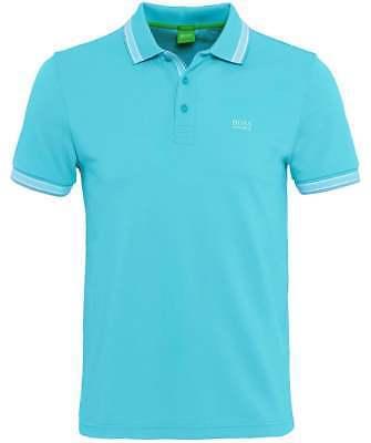 New Hugo Boss Men's Regular Fit Paddy Pro Polo Shirt T-Shirt Blue 50302557 497