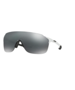 Oakley Polished White OO9386 0138 Ev Zero Stride Black Iridium Cycling Golf Outd - $191.07
