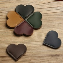 Aihao® Heart-shaped Bookmark PU Leather For Kids Girls Gift Office School - $2.88