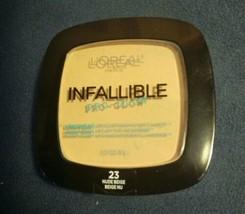 L'Oreal Infallible Pro Glow Longwear Pressed Powder 23 Nude Beige Sealed... - $8.91