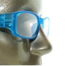 Reading Glasses Sleek Rectangle Spring Hinge Frame Frosted Matte Aqua Blue +2.00 - $18.00