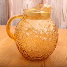Anchor Hocking Lido Milano Amber Water Tea Pitc... - $37.39