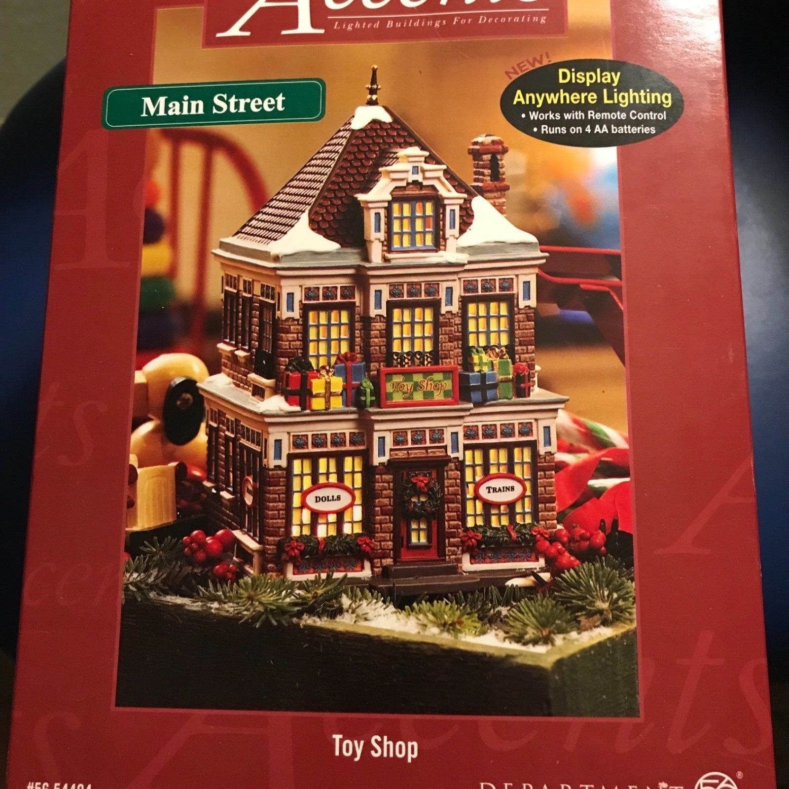 Primary image for Department 56 Main Street TOY SHOP # 56.54404 ~NIB~