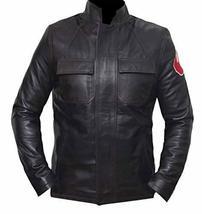 Star Space Hero Dameron Brown Isaac Real Leather Wars Jacket image 1