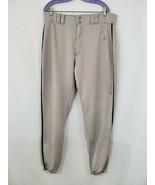 ADIDAS Men's Climalite Baseball Pants Size XL Gray with Black Stripes - EUC - $19.75