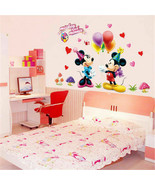 Cartoon Mickey Minnie Mouse Baby Home Decals Wall Stickers For Kids Room... - $17.37