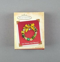 "Hallmark 2004 Keepsake Christmas Ornament ""Sew Merry, Sew Bright"" Thread... - $12.86"