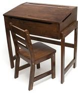 Lipper International 564WN Child's Slanted Top Desk & Chair, Walnut Finish - $139.22