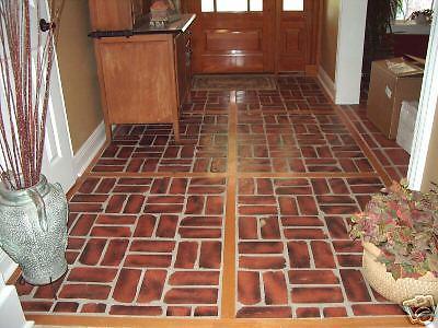 Antique Brick Veneer Molds (10) Make 100s of Brick Veneer Wall & Floor Tiles